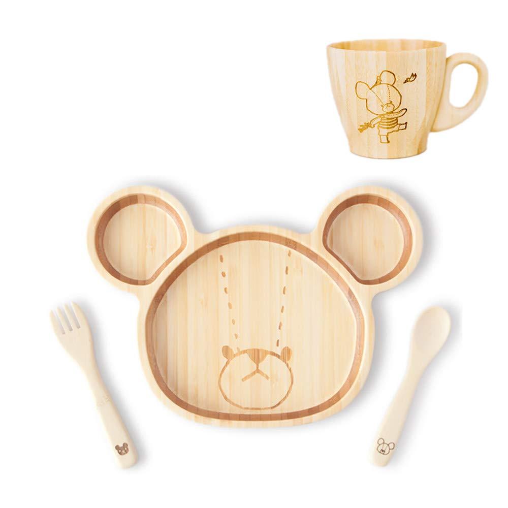 FUNFAM The Bears School Japanese Bamboo Made Jackie Lunch Mug Set FKMGSET-01-001
