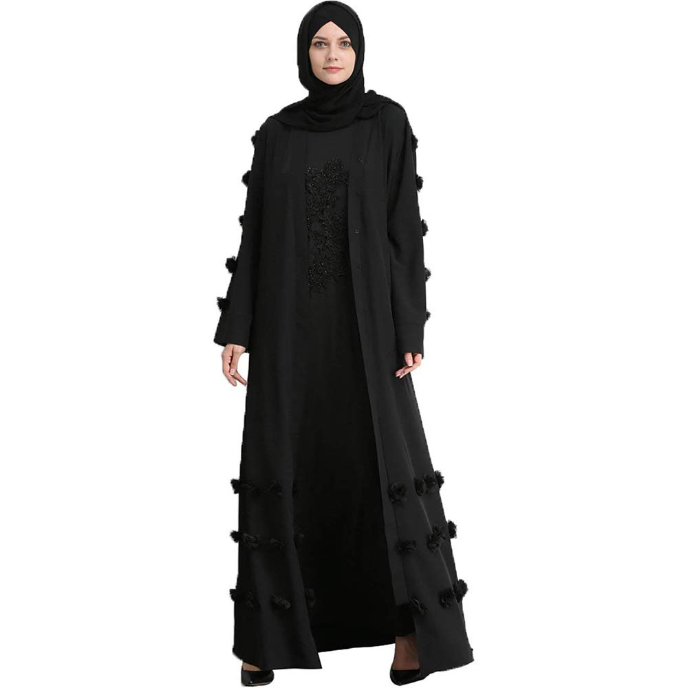 461037f575b9 Liyukee Muslim Eid Abaya Kaftan Dubai Muslim Islamic Dress Party Women  Prayer Long Robe: Amazon.co.uk: Clothing