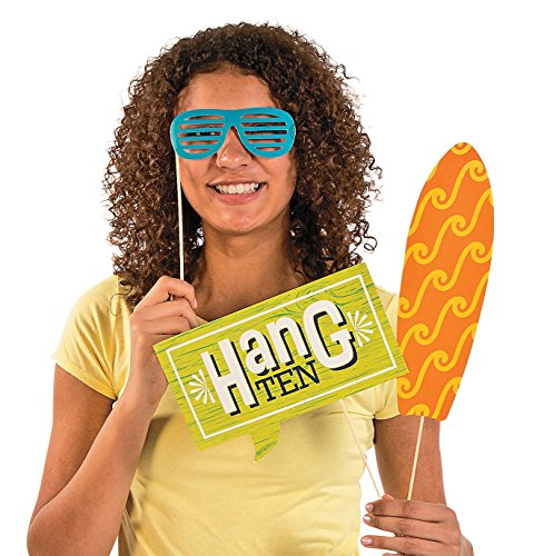 """Surf's Up Photo Stick Props on 12 1//2/"""" Wooden Sticks 12 Pack"""