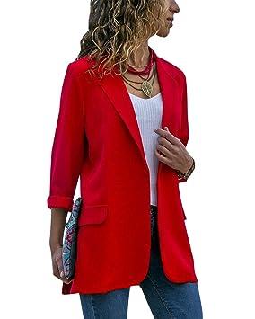 sobornar auténtico tienda del reino unido Reino Unido Mujer Largo Blazer Abrigo Casual Slim Fit Manga Larga ...
