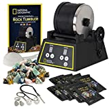 National Geographic Professional Rock Tumbler Kit- Features Include Shutoff Timer & Speed Control, 2 Pound Barrel, 2 Pounds of Gemstones, 8 Polishing Grits, Jewelry Fastenings & Learning Guide