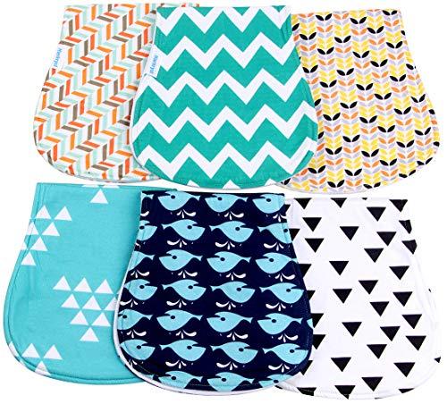 Baby Burp Cloths Boys Girls Unisex Soft Absorbent Baby Burp Rags