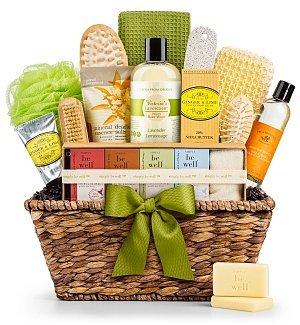 GiftTree Organic Spa Gift Basket Bath Set | Premium Natural Spa Kit ...