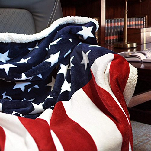 - Brandream Designer Fleece Blanket American Flag Blankets Throw Blanket for Boys/Girls/Adults Choice 51 X63