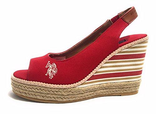 Romy U Rouge polo Femme s Sandales Pour qxz4PR