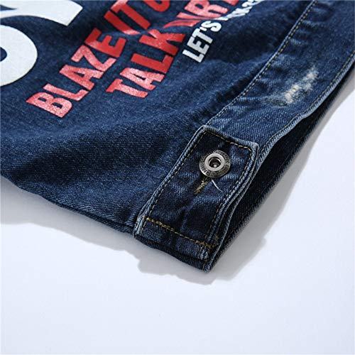 Con Personalità Blue Da Easy Shopping Go Uomo Denim In Oversize Giacca POZTuiwXk