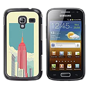LECELL--Funda protectora / Cubierta / Piel For Samsung Galaxy Ace 2 I8160 Ace II X S7560M -- State Building View Art Poster --