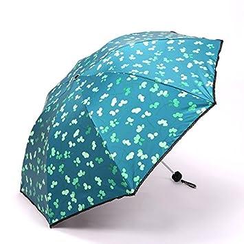 WFYJU-Doble soleada Doble Paraguas Automatico Protector Solar Anti - UV sombrilla.B