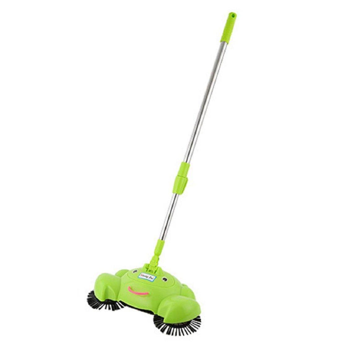 Sunfei New Arrival 360 Rotary Home Use Magic Manual Telescopic Floor Dust Sweeper (Green)