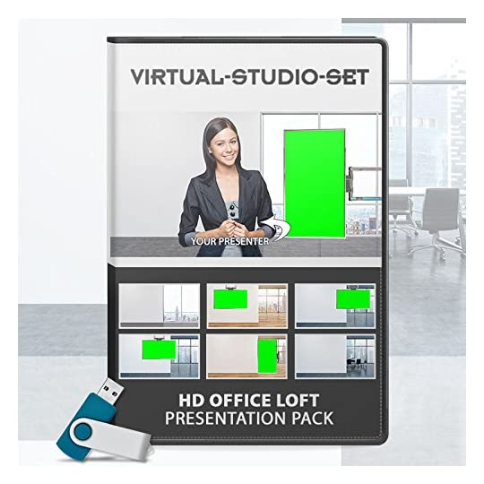 Virtual Studio Set: Office Loft Presentation Pack for Green Screen Productions