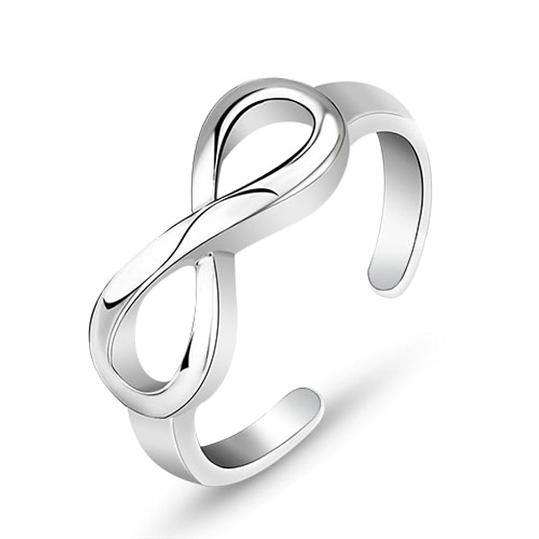Bishilin S925 Silber Unendlichkeit Verlobung Ringe Für Damen Einstellbar Ringe