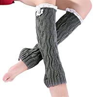 Women Thicken Tricot Leg Ankle Leg Warmers Snug Ladies Girls Gift Leg Warmers