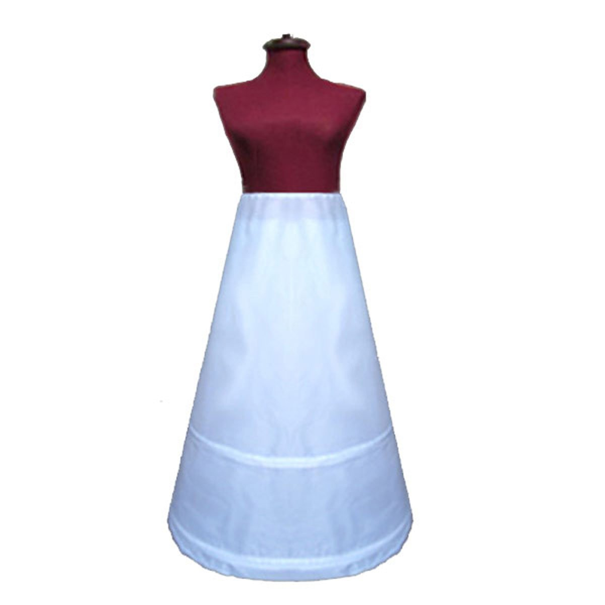 SACASUSA (TM) Adjustable 2-Hoop A-Line Wedding Bridal Petticoat Slip Circumf. 77 Inch