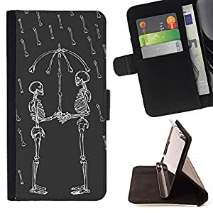 Jordan Colourful Shop - funny skull love rain umbrella skeleton For Apple Iphone 5C - < Leather Case Absorci????n cubierta de la caja de alto impacto > -