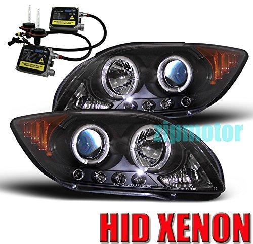 07 Scion Tc Projector Headlights (2005-2007 Scion tC Halo LED Projector Headlights with 6000K HID Conversion Kit - Black)