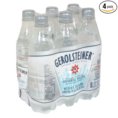 b1cd470e91 Amazon.com : Gerolsteiner Naturally Sparkling Mineral Water, 16.9oz, 6 Per  Pack (Pack of 4) : Sparkling Drinking Water : Grocery & Gourmet Food