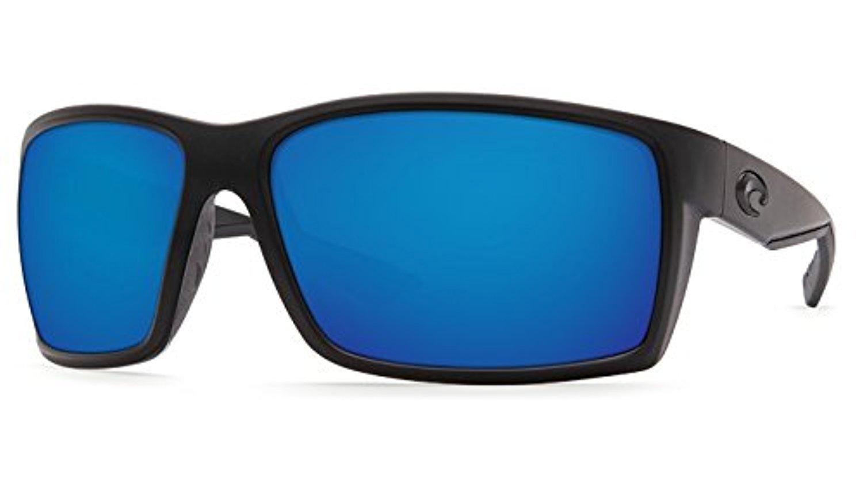 Costa Reefton Sunglasses Blackout / Blue Mirror 580G & Cleaning Kit Bundle