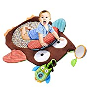 SANMU Cute Cartoon Owl Baby Kids Infant Tummy Time Crawling Play Mat 30