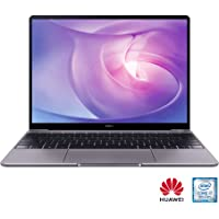 HUAWEI MateBook 13-Inch Laptop with 2K FullView Touch Screen - Intel Core i7, 8GB RAM, 512GB SSD, Intel HD Graphics 620, Windows 10 Home, Dolby Atom Sound System Speakers, Fast Charging, Grey