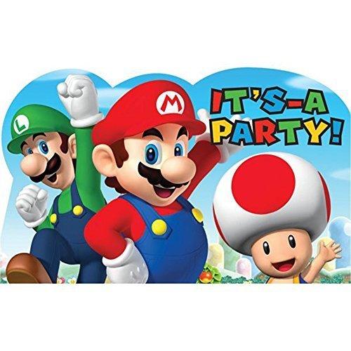 Super Mario Invitations w/ Envelopes (8ct) -