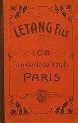 Vintage Letang Fils Paris France Catalog Copy - Chocolate, Ice Cream Molds, Etc. Moule Chocolat