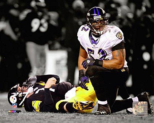 Baltimore Ravens Ray Lewis Sacks the QB. 8x10 Photo Picture