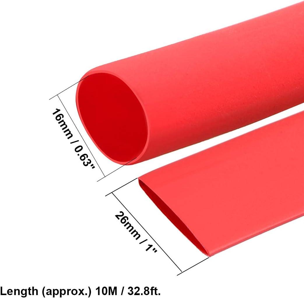 Sourcingmap Tube thermor/étractable 2:1 pour c/âble disolation /électrique Rouge 16 mm Diam/ètre 5 m