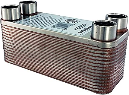 30-plate Brazed Heat Exchanger 3//4 Female NPT Connections