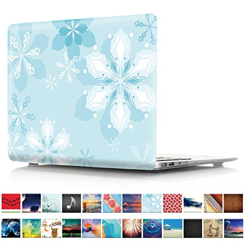 Macbook Air 13 inch Case, PapyHall Plastic Hard Case for Apple MacBook Air 13 inch Model: A1369 and A1466, Snowflake