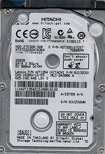 Hitachi HTS723232A7A364 MLC: DA3806 P/N: 0J13233 320GB