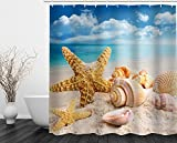 Beddinginn Fabric Decor Shower Curtain Collection Holiday Beach Coastal Design 72' x 72' Bathroom Home Fashion