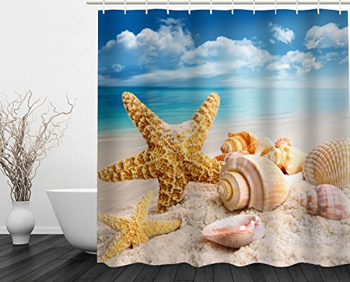 "Beddinginn Fabric Decor Shower Curtain Collection Holiday Beach Coastal Design 72"" x 72\"" Bathroom Home Fashion"