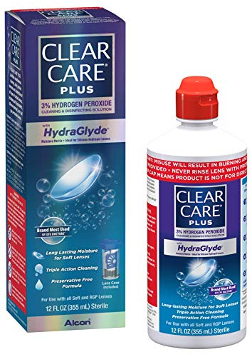 Clear Care Plus Cleaning and Disinfecting Solution with Lens Case, Clear, 12 Fl Oz