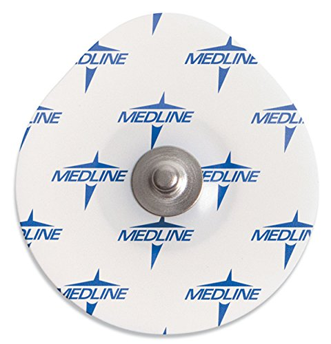 Medline MDSM611905CT MedGel Stress / Diaphoretic Foam Electrode, White (Container of 1000) - Foam Stress Electrodes