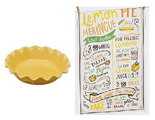 Lemon Meringue Pie Kitchen Towel and Matching Yellow 10
