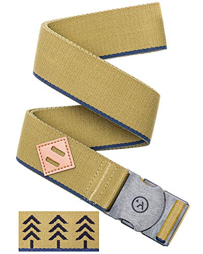 Arcade Belt Mens Adventure Blackwood Belts: Heavy Duty Elastic Webbing, Non-Metal Travel Friendly Buckle, Navy/Green