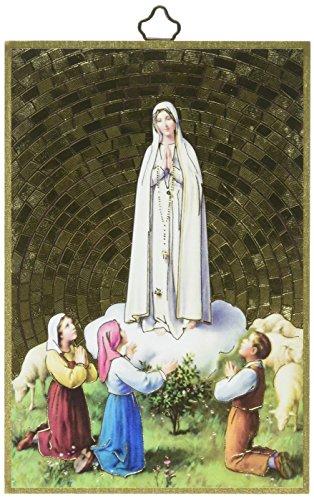 WJ Hirten 4.6000000000000002E-227 Our Our Lady of Fatima Foil Mosaic Plaque