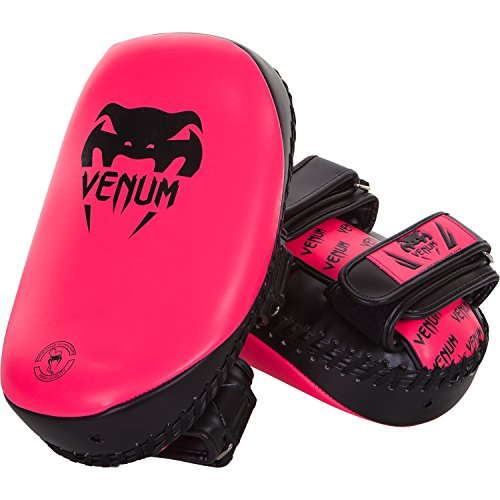 Venum Skintex Leather Light Kick Pad (Pair), Neon Pink, One Size