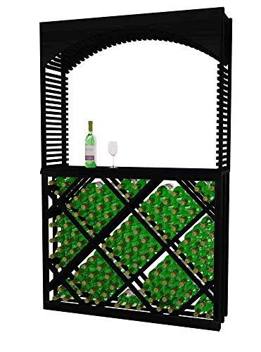 Designer Series Wine Rack - Tasting Center with Open Diamond Bin - 6 Ft - Mahogany Midnight Black Stain - No ()