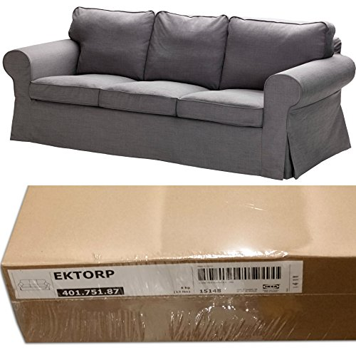 Ikea Ektorp 3 Seat Sofa Slipcover Svanby Gray Cover Only