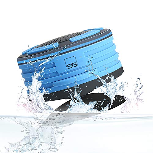Smith-Bagge Shower Speaker, Waterproof Bluetooth Speaker, FM Shower Radio, Mic, and LED Mood Lights, Super Bass and HD Sound for Bathroom, Kitchen, Pool, Beach & Outdoor | Portable & Wireless Speaker