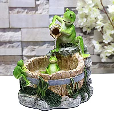 Fern Creek Froggies' Bathtime Tabletop Fountain – Frog Fountain Indoor - Frog Tabletop Fountain - Decorative Water Fountain – 10 x 12 x 10 in.