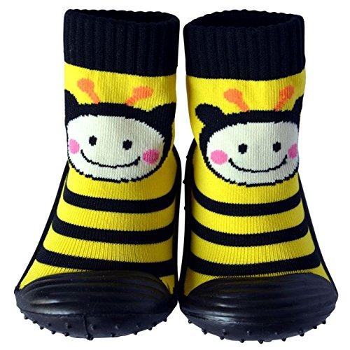 C2BB Calcetines con suela antideslizante para niñas | Abeja - Talla: 20: Amazon.es: Ropa y accesorios