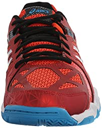 ASICS Men\'s Gel-Court Control Volleyball Shoe, Cherry Tomato/White/Turquoise, 10 M US