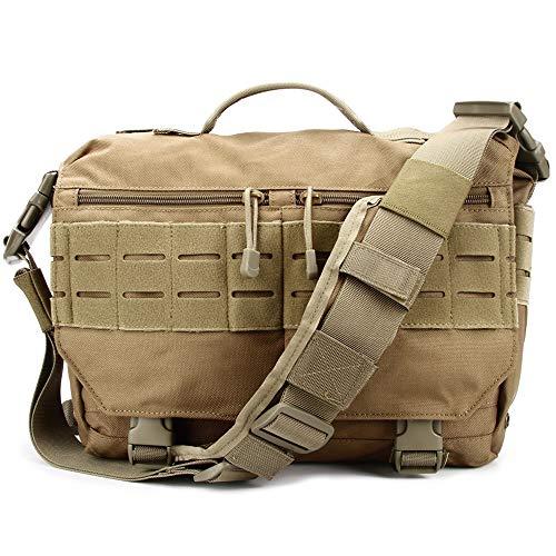 Amazon.com   Trivol Military EDC Messenger Bag Tactical Laptop Shoulder Bag  Multi-Functional Handbags for Everyday Carry molle Compatible (Coyote  Brown) ...