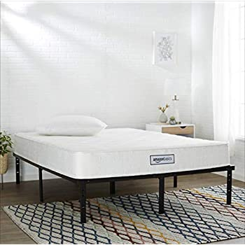 AmazonBasics Coil Mattress in a Box - Features Individual Pocket Spring for Motion Isolation, High-Density CertiPUR-US Certified Foam Layer - 8-Inch, Twin