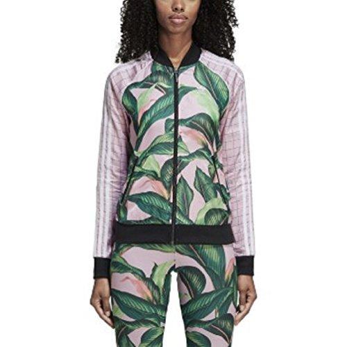 adidas Originals Women's Farm Superstar Tracktop, Green/Pink, M