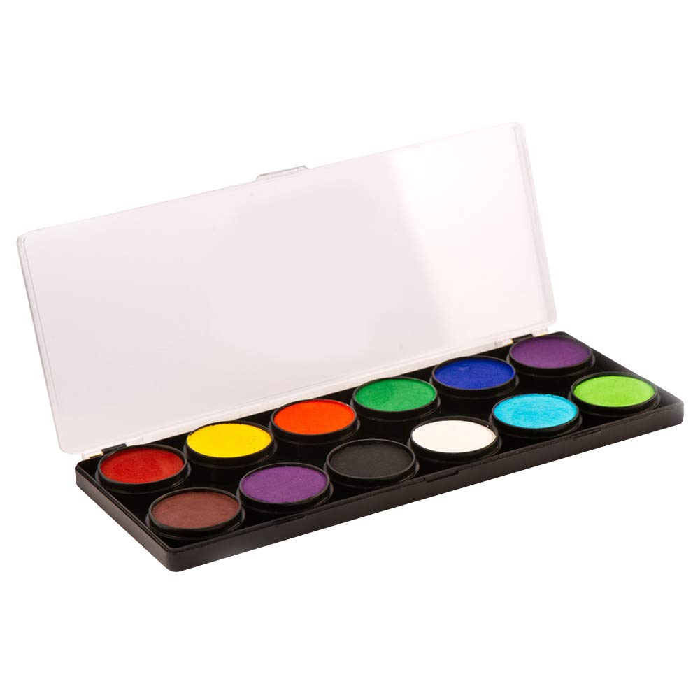 Cameleon 12 Color Face Paint Palettes - Base (10 gm)