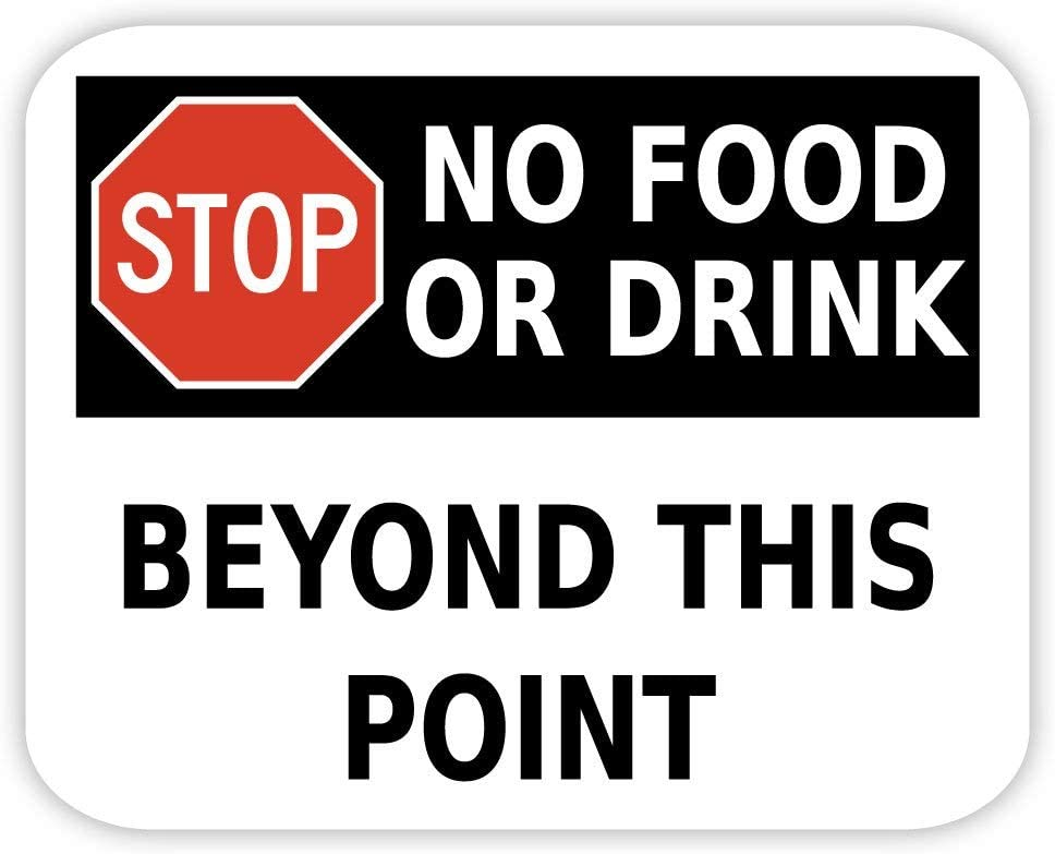 STOP No food or drink sign sticker decal 5