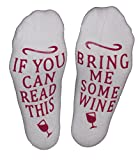 """Wine Socks """"If You Can Read This, Bring Me Some Wine Perfect Gift Idea for Women"""